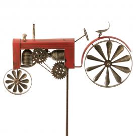 Traktor rot Windrad