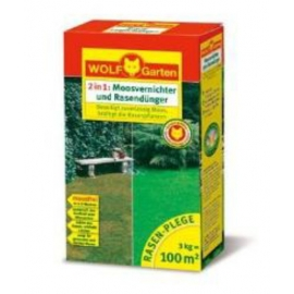Rasendünger mit Moosvertilger 100m2